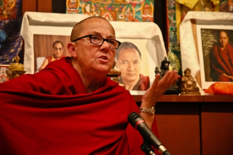 05-18 2011 RC watched over by Lama and Rinpoche, Ganden Tendar Ling, Moscow